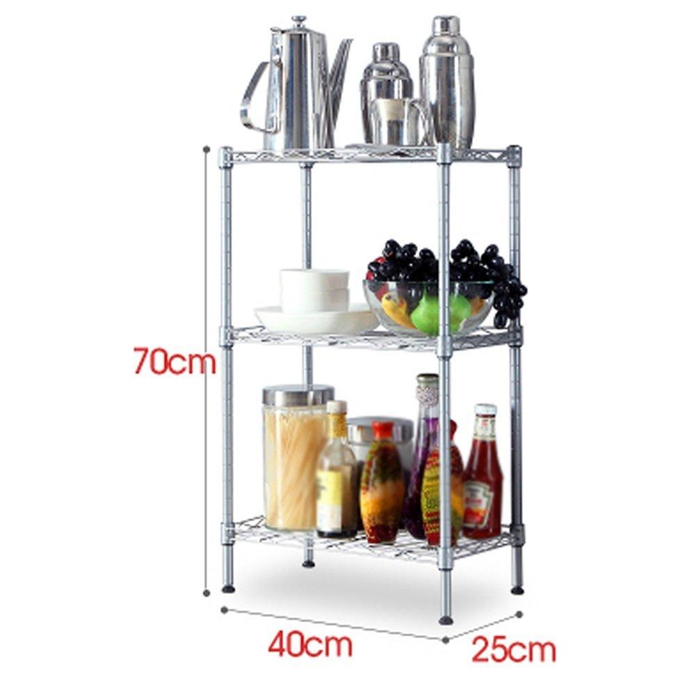 YCT 棚、フローティングラック金属製キッチン棚収納棚多層マイクロ波棚野菜ラック (サイズ : Large) B07R8J5H2V  Large