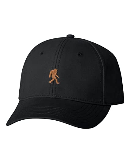 Go All Out Adjustable Black Adult Bigfoot Sasquatch Embroidered Dad Hat  Structured Cap 3712b891037