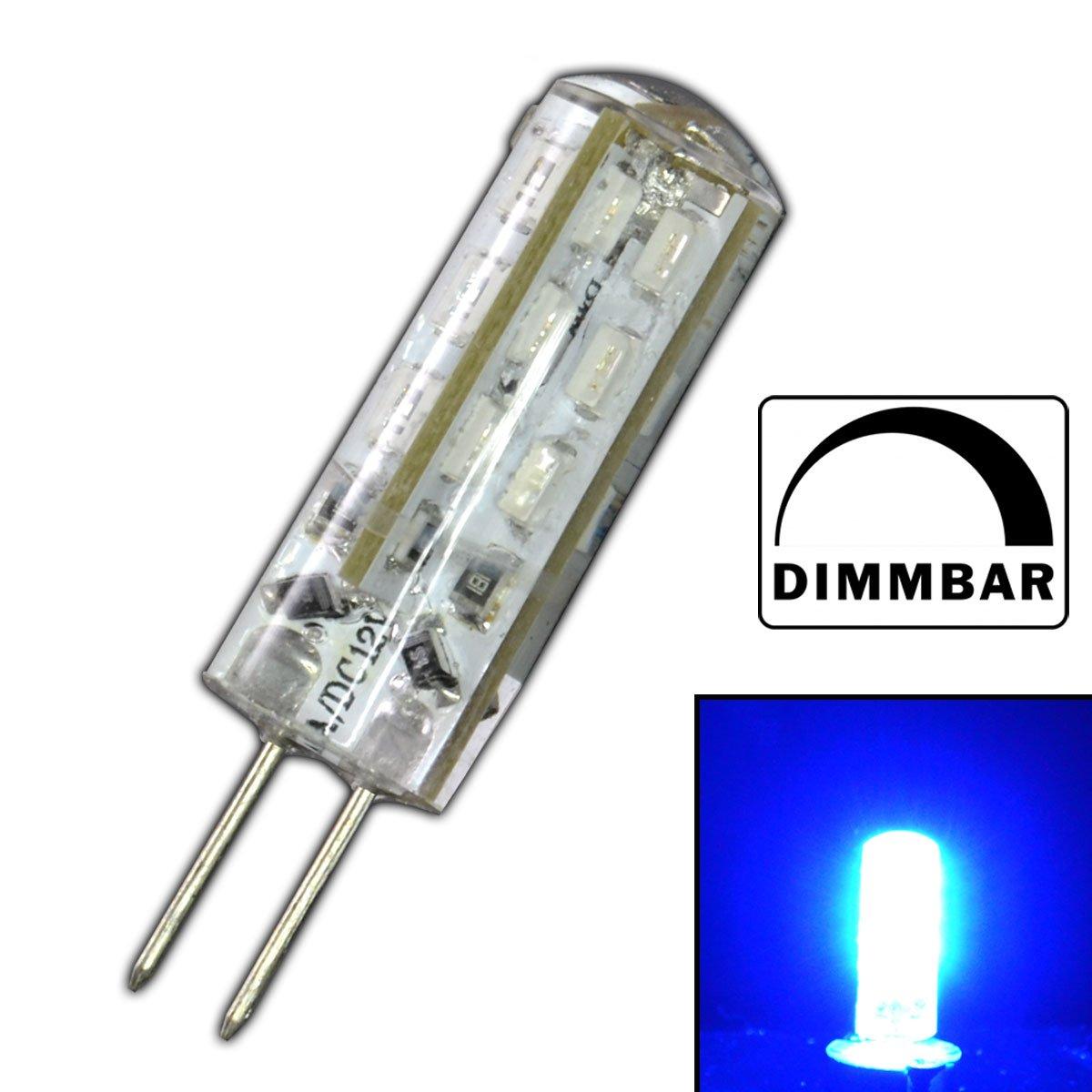 Dimmbare G4 LED mit 1,5 Watt DIMMBAR und 24 SMDs BLAU - Blaulicht ...