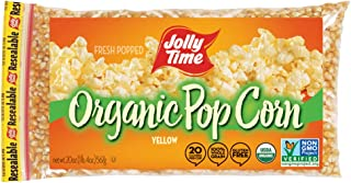product image for JOLLY TIME Organic Popcorn Kernels | Non-GMO & Gluten Free Natural Yellow Unpopped Corn for Stovetop Popping (20 oz. Bags, Pack of 3)