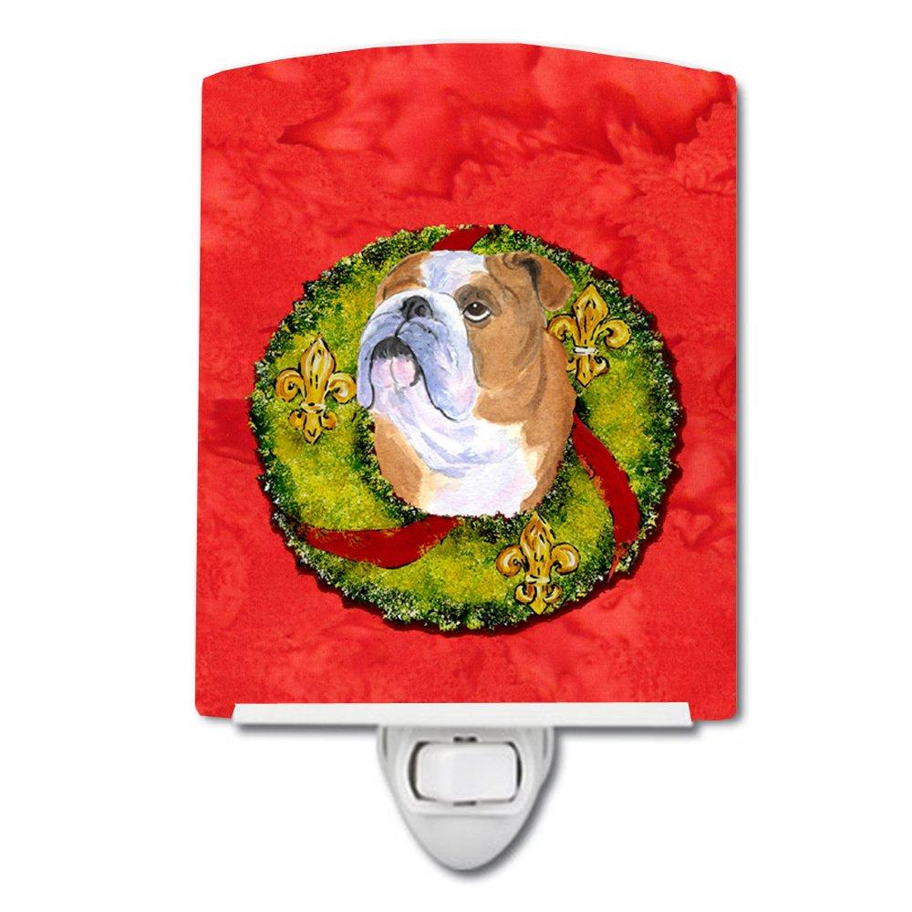 Carolines Treasures Bulldog English Cristmas Wreath Night Light 6 x 4 Multicolor