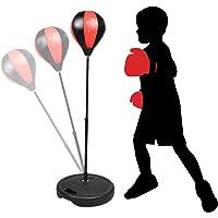 Punchingball Boxen Set mit Boxhandschuhen & Pumpe für Kinder Jugend höhenverstellbar von 80 bis 115 cm