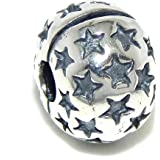 "925 Sterling Silver ""Star"" Clip Lock Charm Bead"
