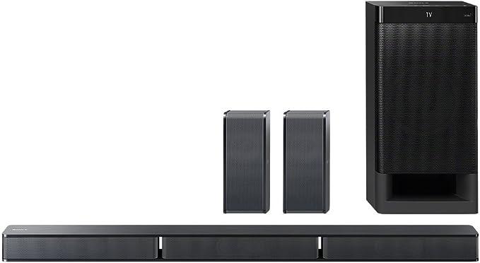 Sony HT-RT3 5.1-channel soundbar (600 W output, NFC, Bluetooth, Dolby Digital, HDMI, USB, optical digital input incl. subwoofer and rear speakers) black.: Amazon.de: Home Cinema, TV & Video
