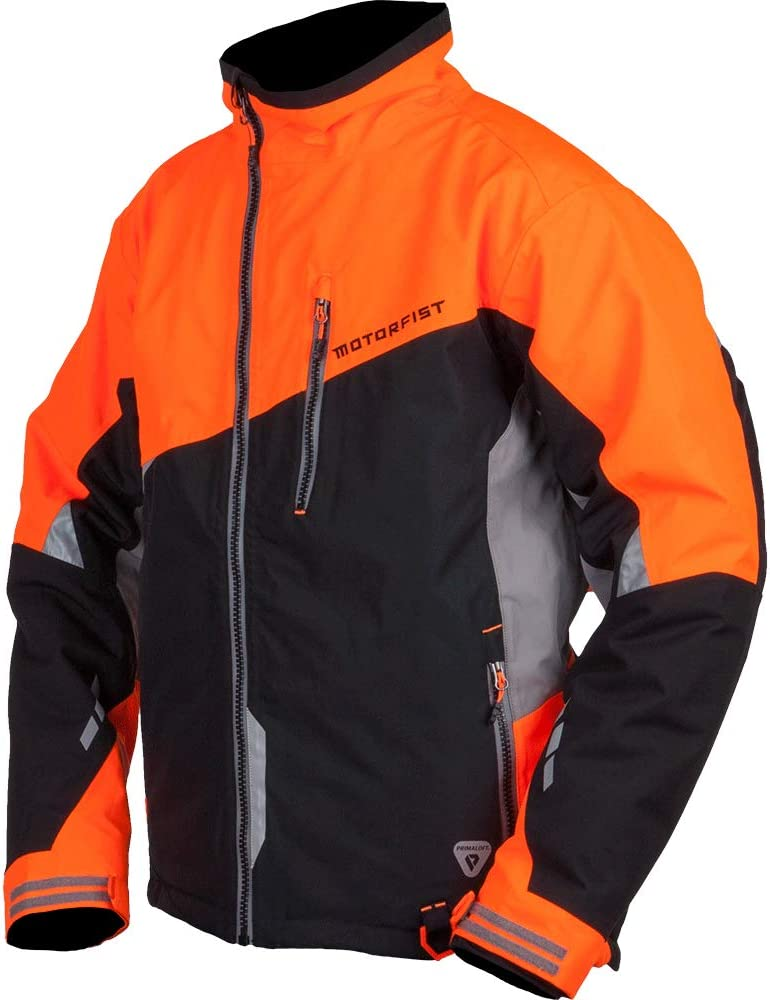 Motorfist Mens Redline Jacket Black//Orange, Small
