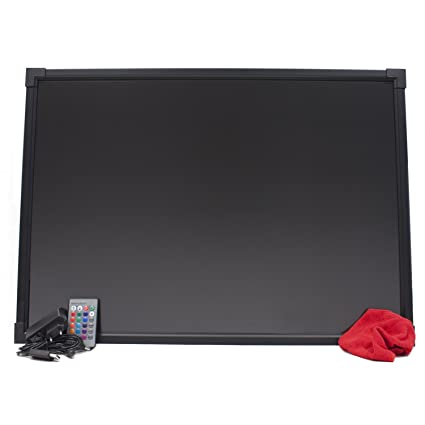 HALOTEC Pizarra LED RGB luminosa de 50x70cm color negro con ...