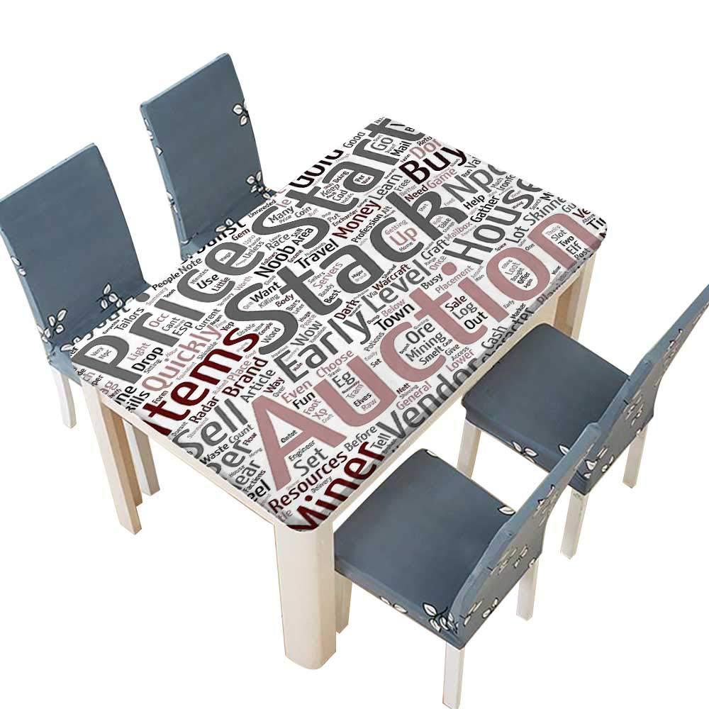 PINAFORE ポリエステル製テーブルクロス バトルウォーの悪魔ハンター テーマヒーロー 屋内外用 幅25.5×長さ65インチ (エラスティックエッジ) W45