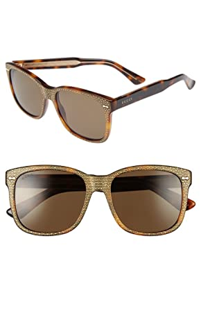 6be89626bc2 Amazon.com  Gucci - GG0047S Sunglass ACETATE (Havana