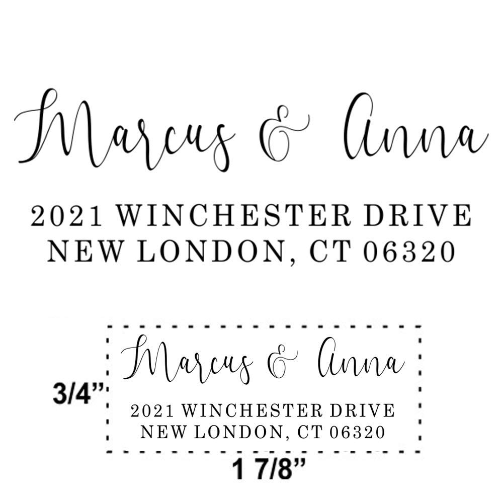 Custom Hand Lettered Calligraphy Self-Inking Address Stamp|Function /& Flair Return Address Stamp!