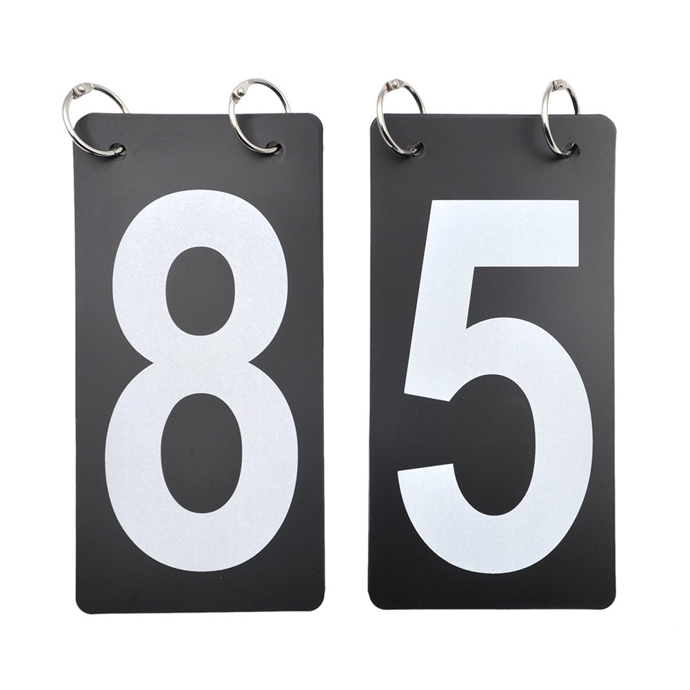 0-9 Double Sides Score Reporter Replacement Cards GOGO 2 Sets Tennis Score Keeper 4 x 7