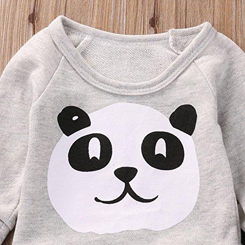 6fb2d2c61 2Pcs/Set Infant Baby Girl Boy Long Sleeve Panda Sweatshirt Tops+Striped Long  Pants