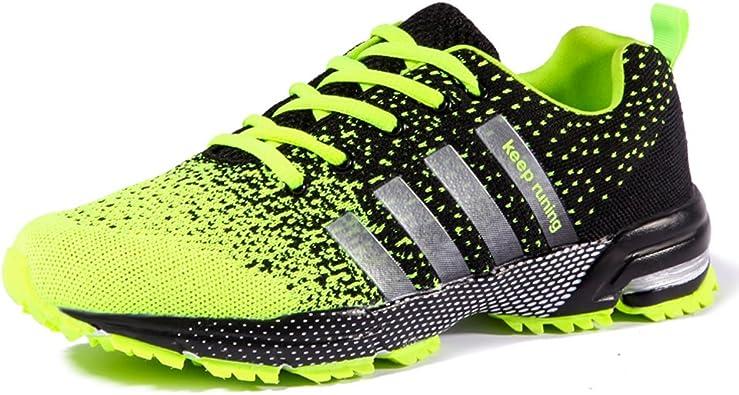 Zapatillas De Deporte Unisex Ligero Respirable Zapatos Deportivos Zapatos Para Caminar (45 EU, Green): Amazon.es: Zapatos y complementos