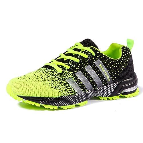 Zapatillas De Deporte Unisex Ligero Respirable Zapatos Deportivos Zapatos Para Caminar (45 EU, Green