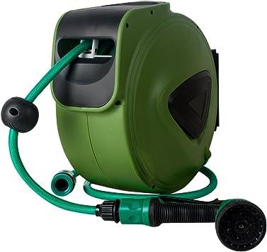 Amazon Com 10m Green Retractable Water Garden Hose Reel Ixaer