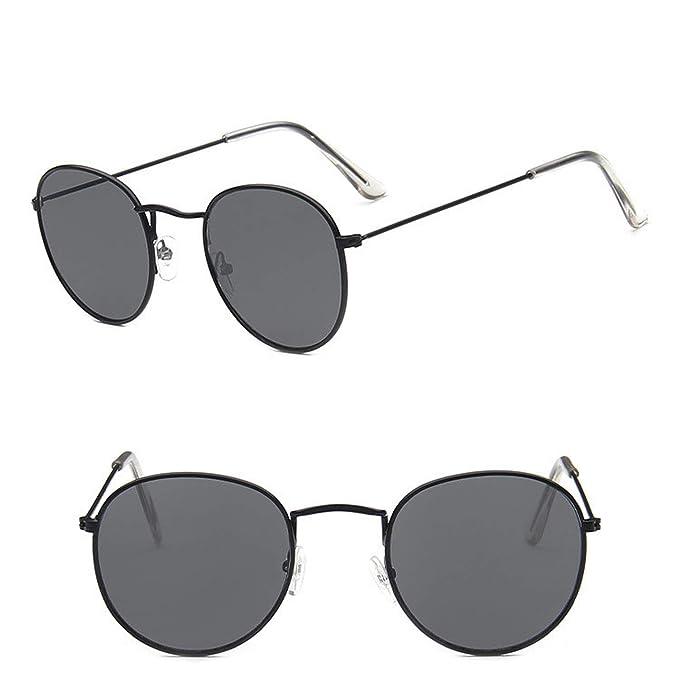 Amazon.com: Gafas de sol clásicas ovaladas para hombre y ...