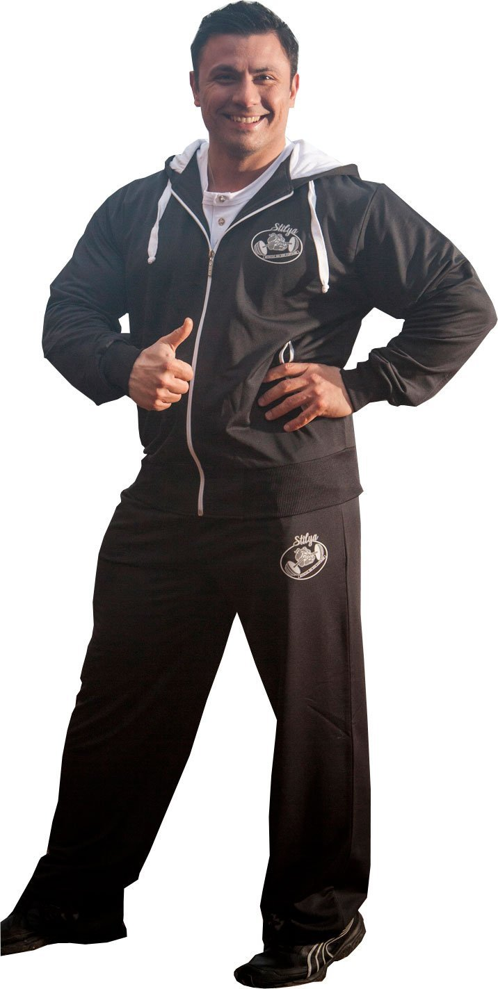 STILYA SPORTSWEAR Herren Trainingsanzug Bodybuilding 6504-5513 schwarz
