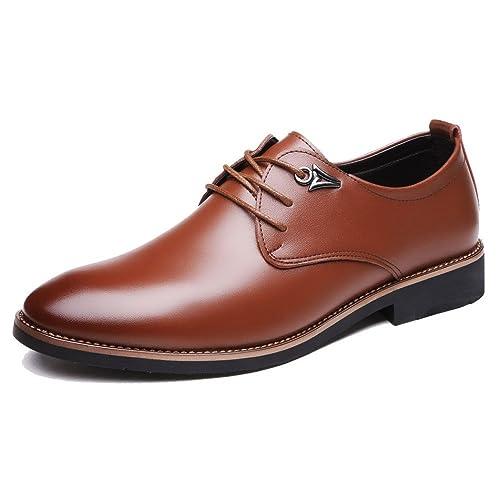 559ccab41cf Zapatos De Cuero Genuinos De Los Hombres Zapatos De Los Hombres Zapatos De  Vestir para Jóvenes Consejos Comerciales Cordones Casual  Amazon.es  Zapatos  y ...