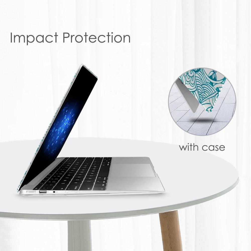 Trasparente Plastica Cover Rigida Duro Caso per Apple MacBook Air 13.3 Constellation A1466 // A1369 Fintie MacBook Air 13 Custodia Copertina