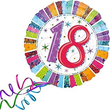 Ballon-Partydekoration zur Volljährigkeit Geburtstag Bunte Luftballons zum 18