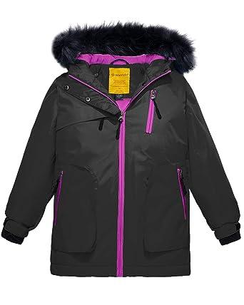 9c4a9b0a6182 Amazon.com  Wantdo Girls Waterproof Ski Jacket Parka Outdoor Jacket ...