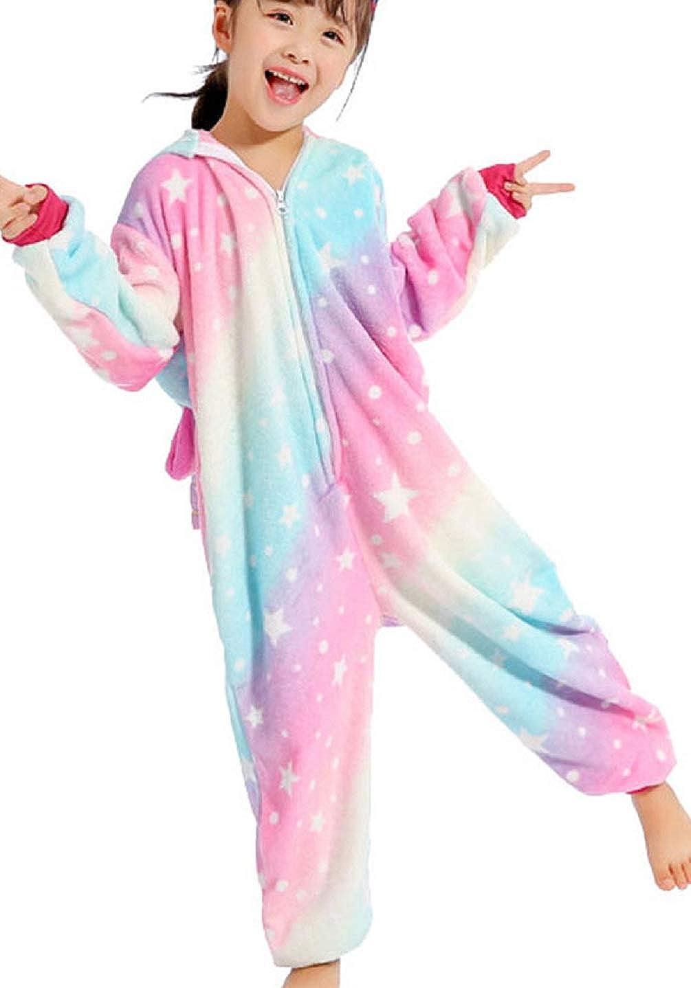 UMIPUBO Pijama Animal Niña Unisexo Cosplay Traje Disfraz Niña ...