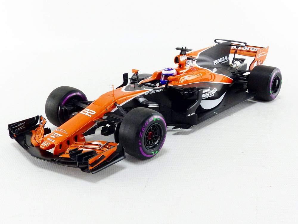 Minichamps 537171822 1: 18 2017 Mclaren Honda MCL32 Jenson Button - Monaco GP, Negro/Naranja