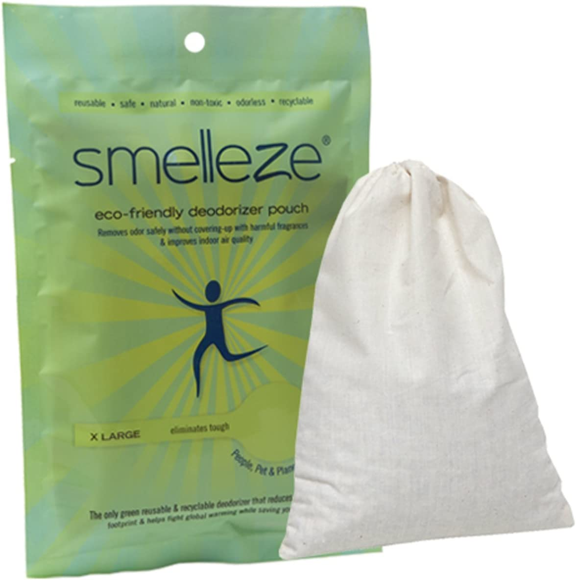SMELLEZE Reusable Pet Smell Removal Deodorizer Pouch: Get Dog & Cat Stink Out Without Scents in 150 Sq. Ft.