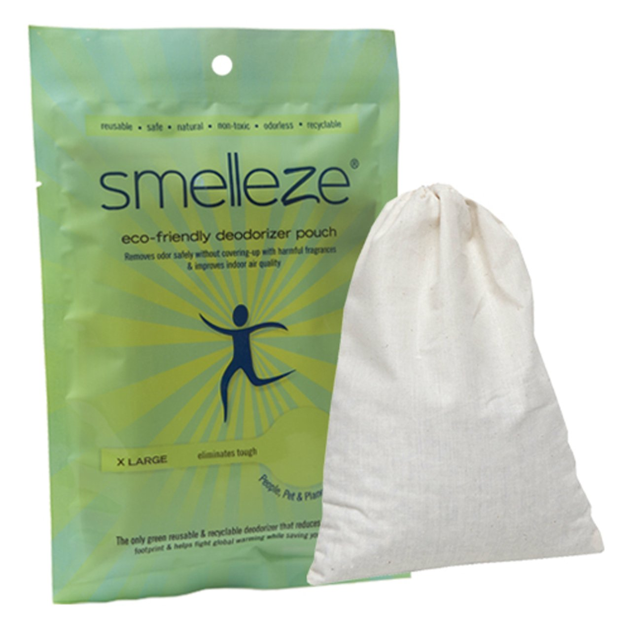 SMELLEZE Reusable Printing Smell Removal Deodorizer Pouch: Rids Odor Without Chemicals in 300 Sq. Ft. IMTEK Environmental Corp.
