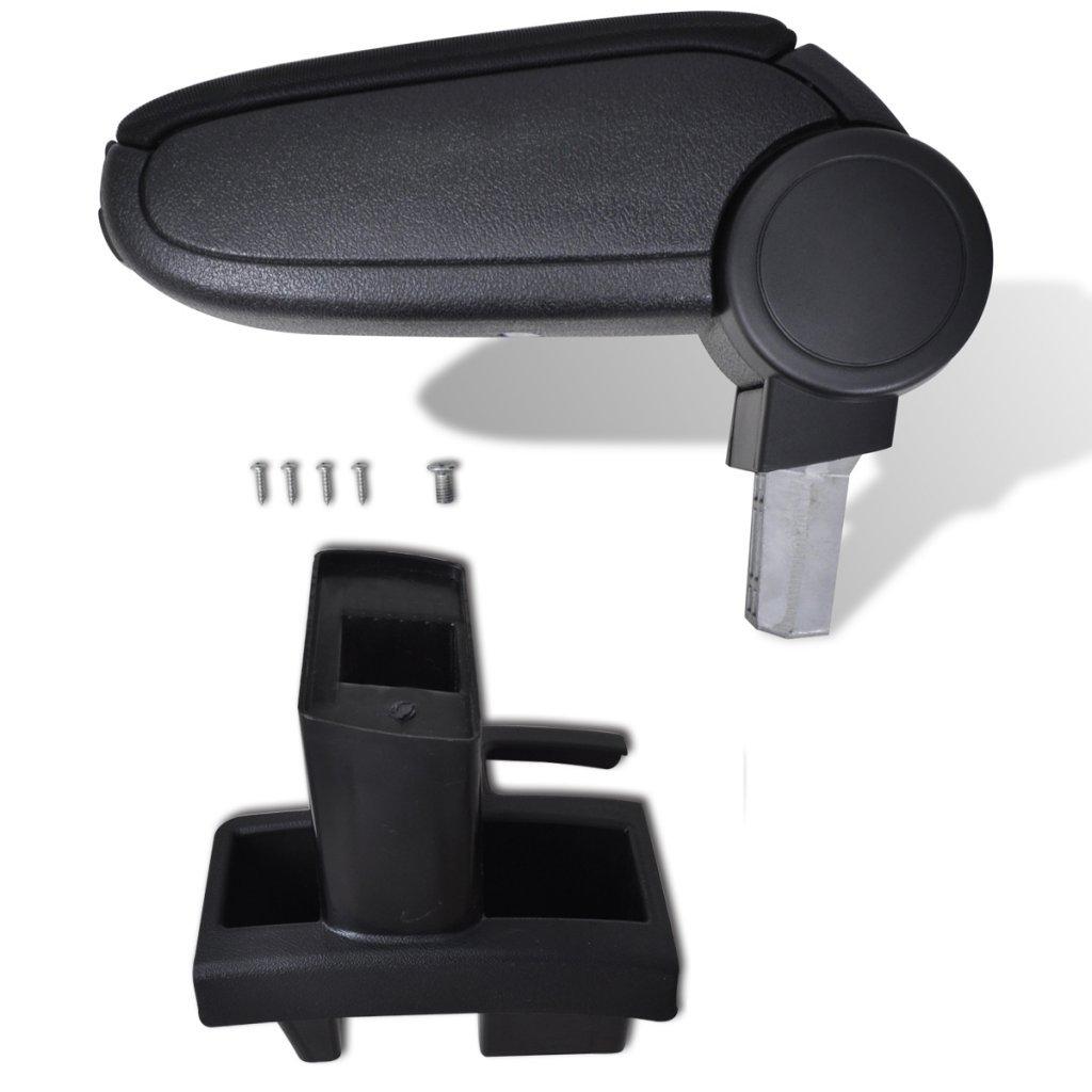 Festnight Black Car Armrest Peugeot 307 (2004) Its Storage Organizer Keys, Change, Cards, Etc.