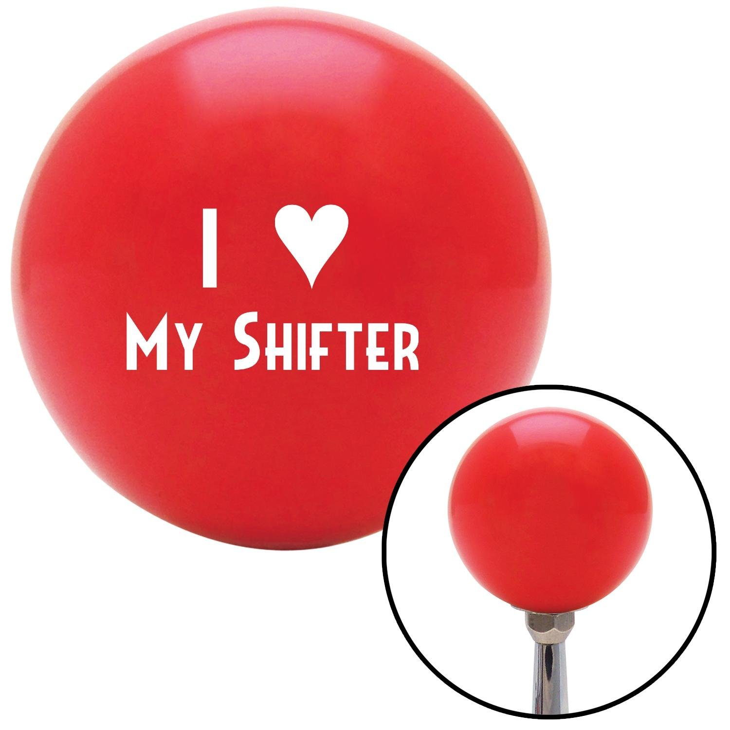 American Shifter 96844 Red Shift Knob with M16 x 1.5 Insert White I 3 My Shifter