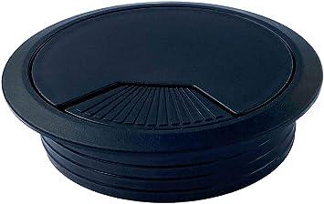 color negro 2 unidades, di/ámetro de 60 mm, redondo Mprofi MT/® Pasacables de pl/ástico
