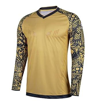 4bd6e6b1544 kelme football gardien 2017 - 2018 été formation professionnelle t - shirt  manches (Gold