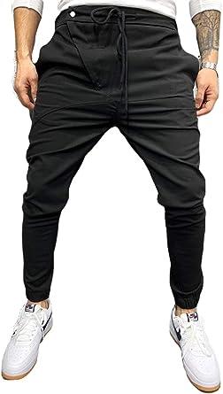 Amazon Com Pantalones De Corte Italiano De Tela Clasica Para Hombre Estilo Callejero Clothing