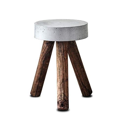 Beistelltisch Oder Kl Couchtisch Aus Beton Altholz Hocker Tisch