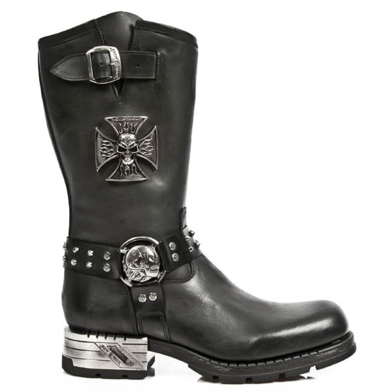 New Rock Boots M.MR030 S1 Urban Biker Hardrock Herren Stiefel Schwarz