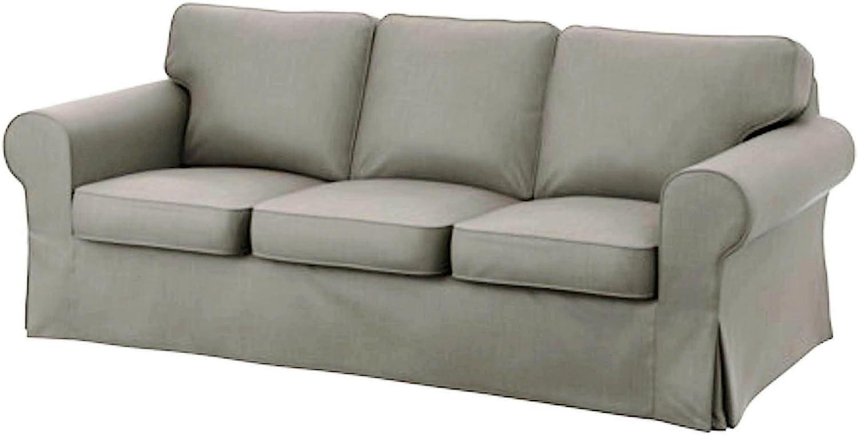 Cubierta / Funda solamente! ¡El sofá no está incluido! Custom Slipcover Replacement IKEA Ektorp - Funda de Repuesto para sofá de 3 plazas (algodón), diseño de Ektorp