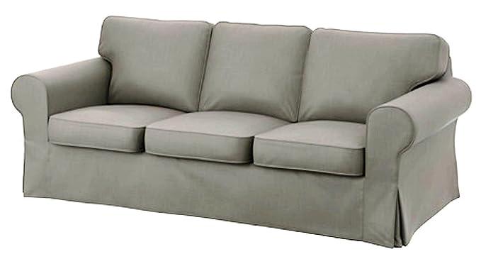 Cubierta / Funda solamente! ¡El sofá no está incluido! Custom Slipcover Replacement IKEA Ektorp - Funda de Repuesto para sofá de 3 plazas (algodón), ...