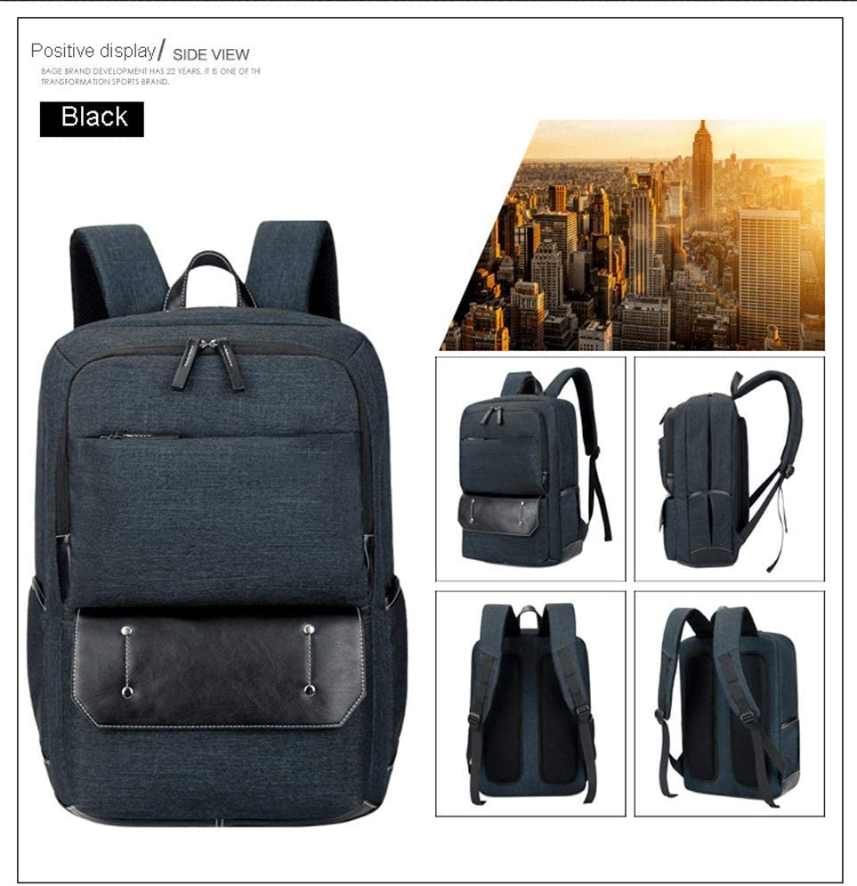 Business Backpack Men and Women Black Brown Laptop Backpack Fashion Backpack 15.6\ 17\ Travel Computer Backpack-Brown