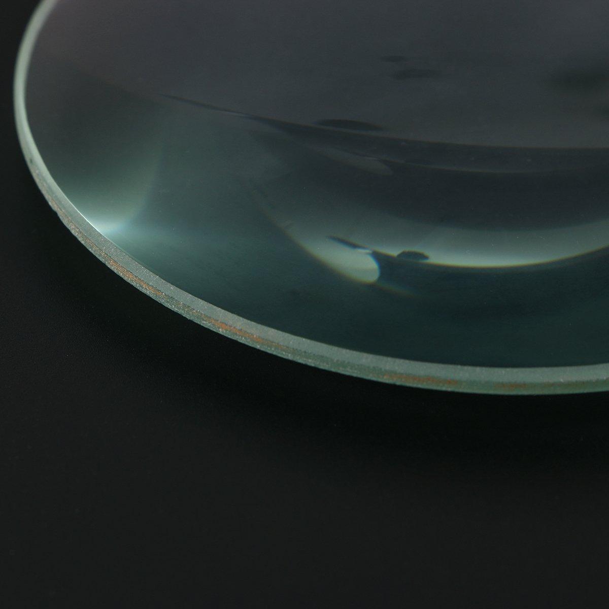 UEETEK Lente convexa,lente de cristal convexa doble de la longitud focal del di/ámetro de los 10cm 300m m para el experimento de los laboratorios