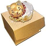 NP 風水グッズ ネコ 猫 クリスタル 置き物 幸運を呼ぶ 福ねこ 招き猫 金運アップ 商売繁盛