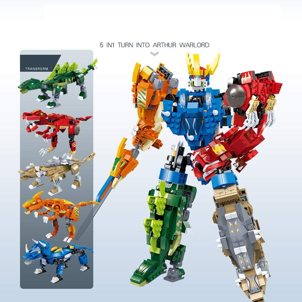 5 Geeignet für Deformationsroboter, Baustein-Deformationsroboter-Modell, Boy-Montage-Robotermodell, DIY-Montage-Lernspielzeug - - - Boy Robot Intelligentes Kind 6-10 Jahre alt 55d3ad
