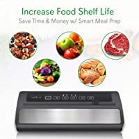 NutriChef Upgraded Automatic Vacuum Sealing System with Starter Kit