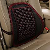 INCH EMPIRE Lumbar Support Wood Beads Massage Pillow Cushion with Strap - Summer Cool Winter Warm Back Pillow for Car Seat,Office and Home Chair