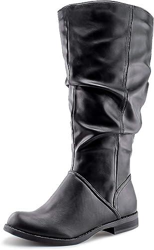 JABASIC Women Knee High Slouch Boot