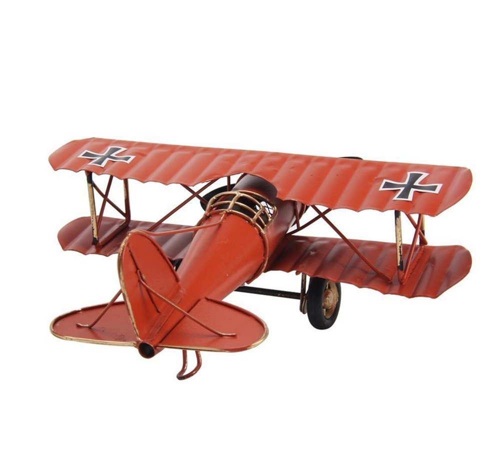 Bemodst® Vintage Metal Planes Model Iron Retro Aircraft Glider Biplane Pendant Model Airplane Photo Props/ Christmas Gift/ Home Bar Cafe Decor/ Ornament/ Window Display (Red)