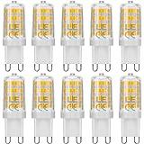 LE 10 Lampadine LED G9 da 5W, Pari Alogene da 50W 340lm Luce bianca Calda 3000K per Lampade Lampadari Luce interni Illuminazione Cucina Soggiorno Bagno Risparmio energetico 85% Lunga durata 5x1,5 cm