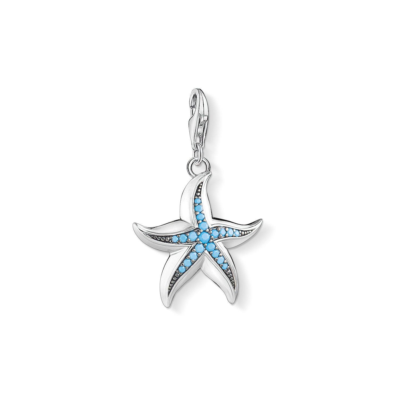 THOMAS SABO Damen-Charm-Anhänger Herz mit Pinkem Steinen Charm Club 925 Sterling Silber 1573-699-9 1527-667-17