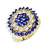Kennedy Gold-Plated Swarovski Crystal Bullseye Ring