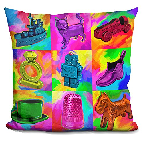 Price comparison product image LiLiPi Pop Art Monopoly Pieces Decorative Accent Throw Pillow
