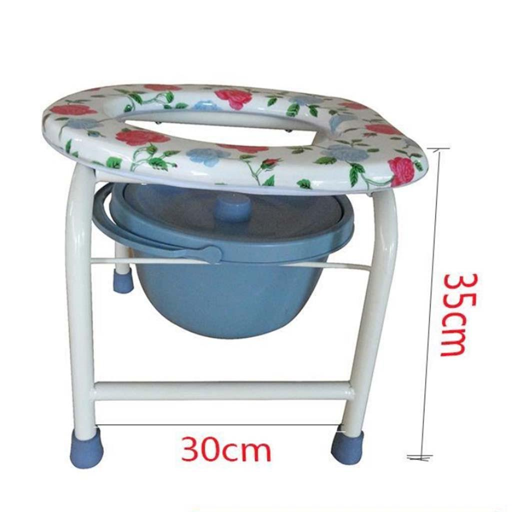Toilet chair stainless steel old women women non-slip Bedside Commode Drive Medical , white gray